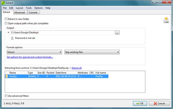 PeaZip: Free unzip software – Create & extract files in ZIP