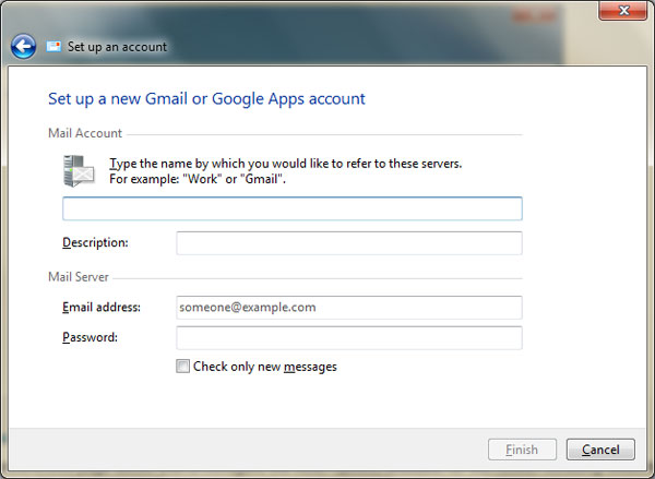 Setting up Gmail account in Gmail Notifier