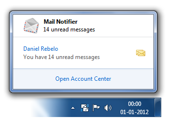 Mail Notifier windows