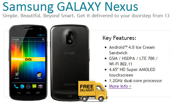 Samsung Galaxy Nexus Digi package - free shipping