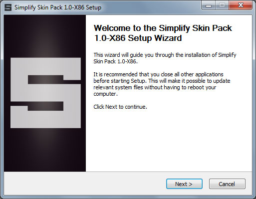 Simplify Skin pack installation