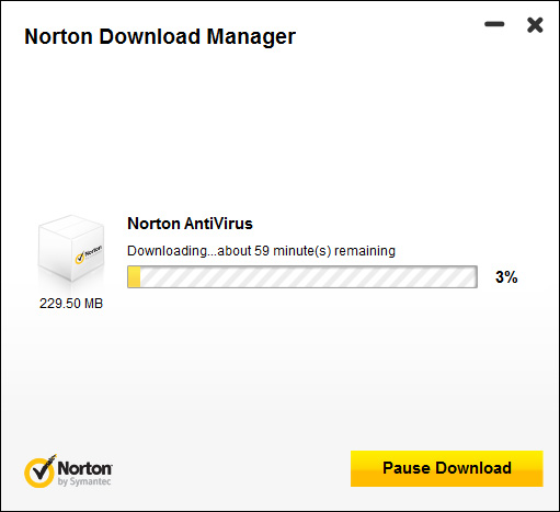 Downloading Norton Antivirus 2012