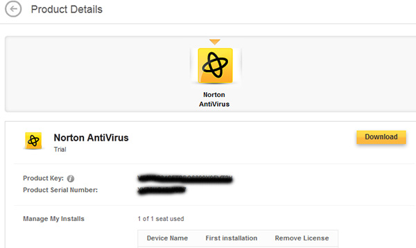 Norton Antivirus 2014 product key